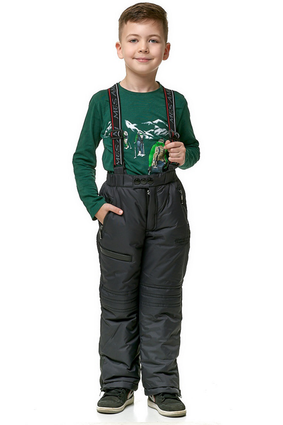 Boy's trousers with detachable back and shoulder straps