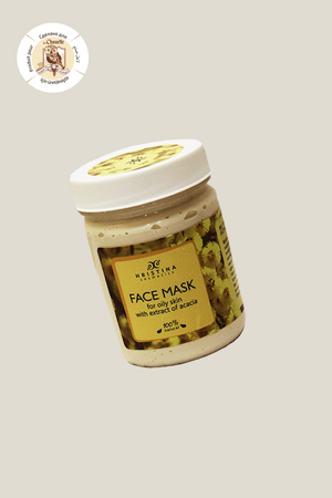Face mask for oily skin with extract of acacia, 200 ml